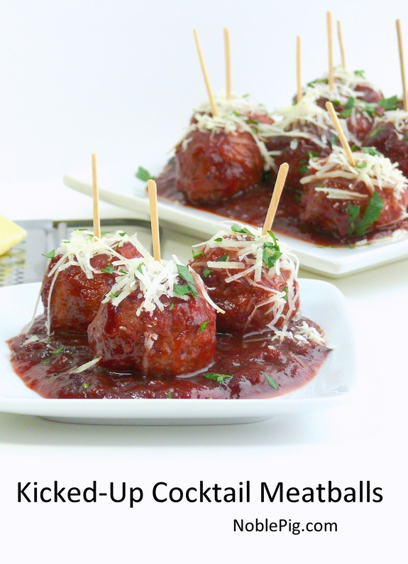 Kicked-Up Classic Cocktail Meatballs | Noble Pig