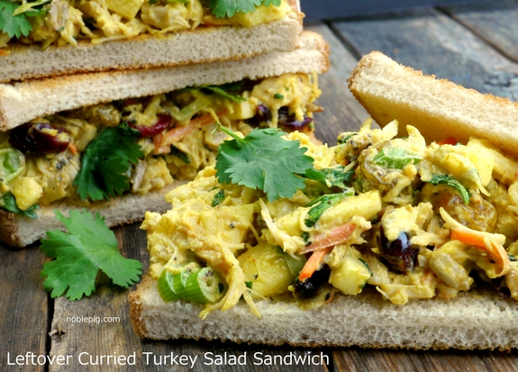 Leftover Curried Turkey Salad Sandwich from Noble Pig