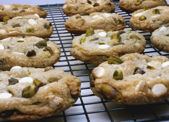 Pistachio White Chocolate Cake Batter Cookies  A special trick on how to make them lofty from NP