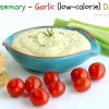 Rosemary-Garlic (low-calorie) Dip