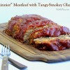 """Skinnier"" Meatloaf with a Tangy-Smokey Glaze"
