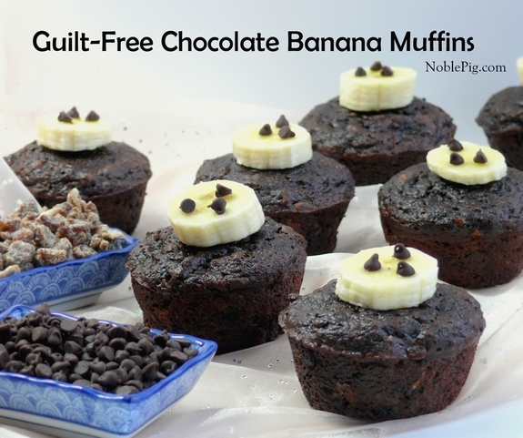 Noble Pig Guilt Free Chocolate Banana Muffins