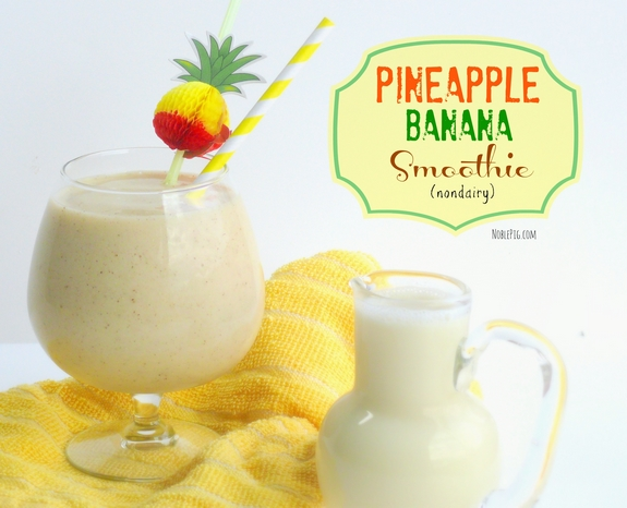 Pineapple Banana Smoothie nondairy and low calorie