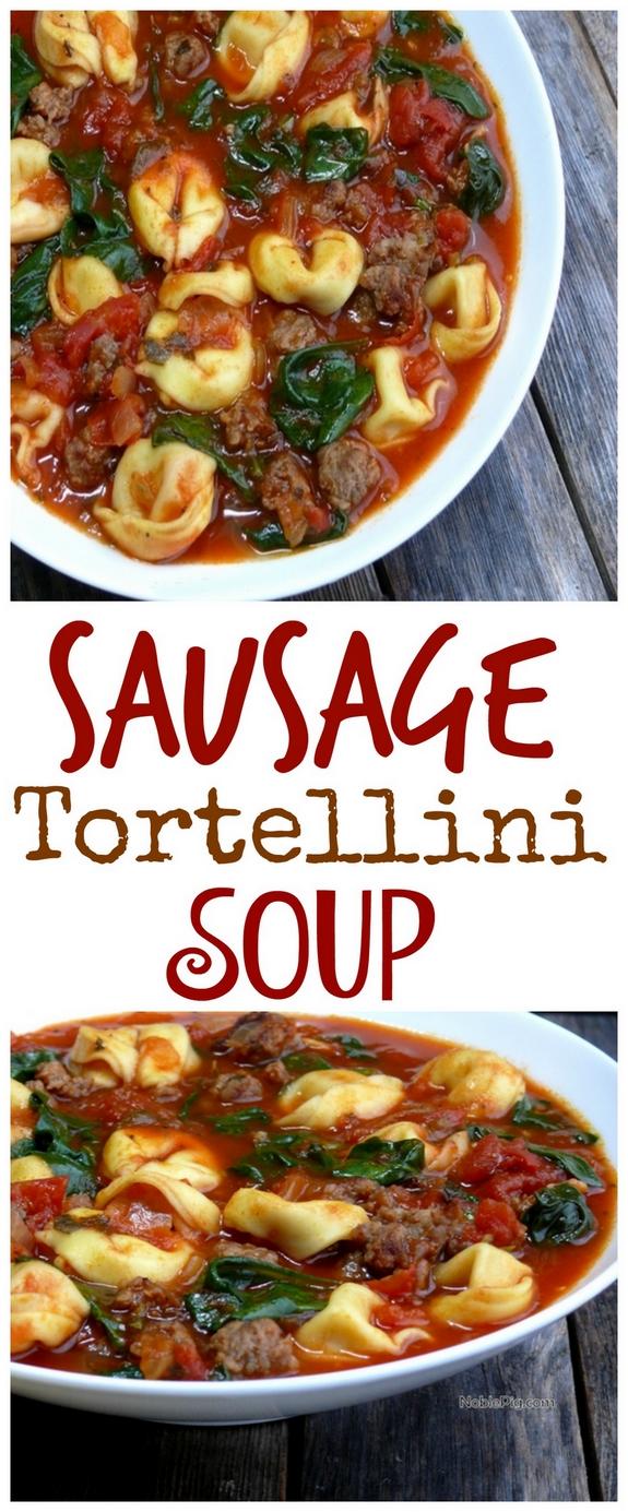 Sausage Tortellini Soup