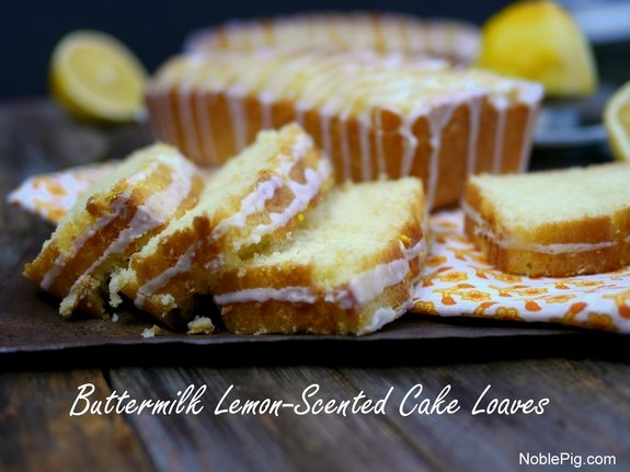 Buttermilk Lemon Scented Cake Loaves