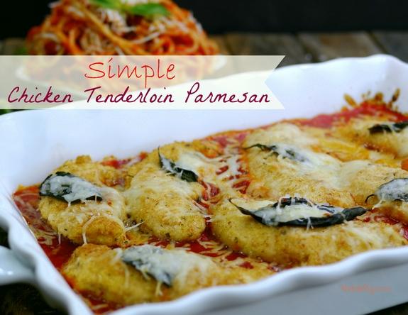 Simple Chicken Tenderloin Parmesan Noble Pig