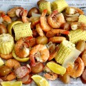 Low Country Shrimp Boil from NoblePig.com. So easy to feed a crowd with this recipe.