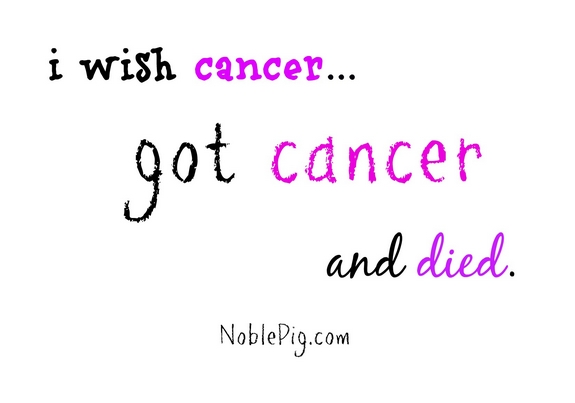 Noble Pig Cancer image hate cancer