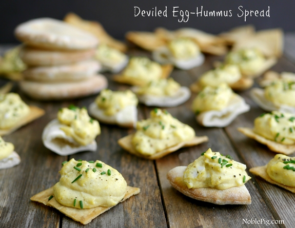 Deviled Egg-Hummus Spread | Noble Pig