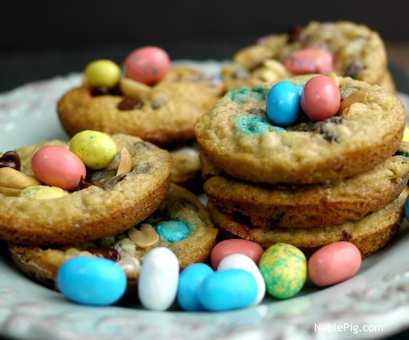 Noble Pig Easter Trail Mix Cookies cookies