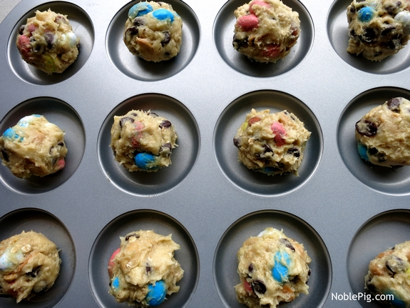 Noble Pig Easter Trail Mix Cookies with Whoopie Pie Pan