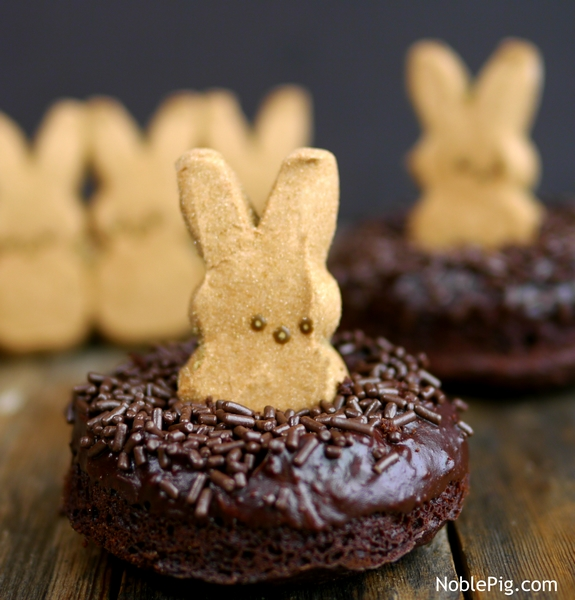 Peeps Chocolate Donut Nests yummy Noble Pig