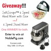 (Giveaway) Hamilton Beach 6-Speed Stand Mixer and Softscrape Hand Mixer