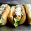 Zucchini-Marinara Dogs