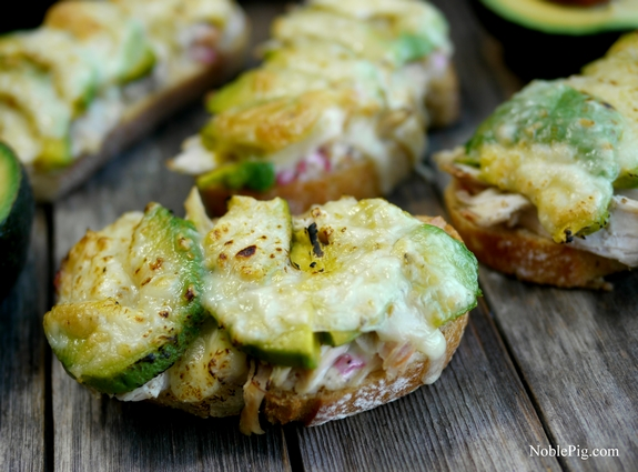 Noble Pig Cheesy Chicken and Avocado Melts     1