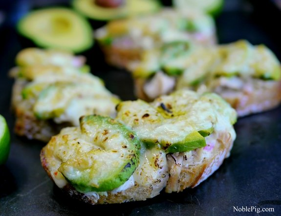 Noble Pig Cheesy Chicken and Avocado Melts