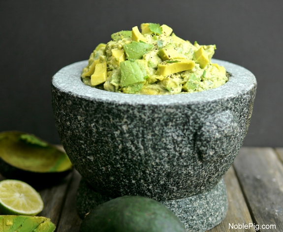 Noble Pig Chunky Guacamole perfect game day snack