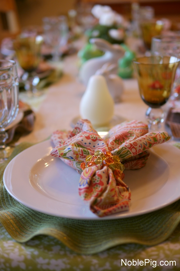 Noble Pig Easter Table