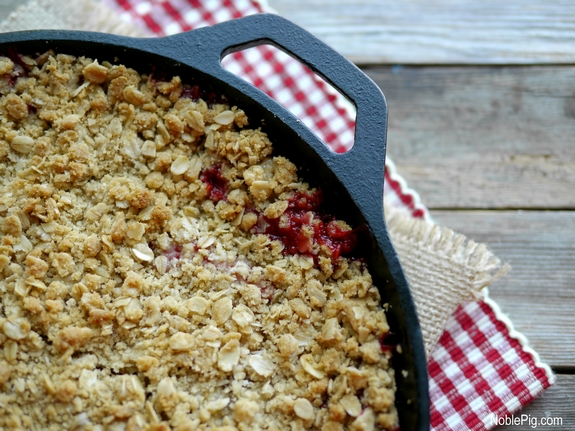 Strawberry Banana Crumble from Noble Pig pan view