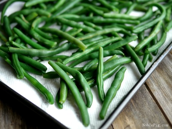 Fresh Green Beans with Bacon and Shallots from Noble Pig green beans