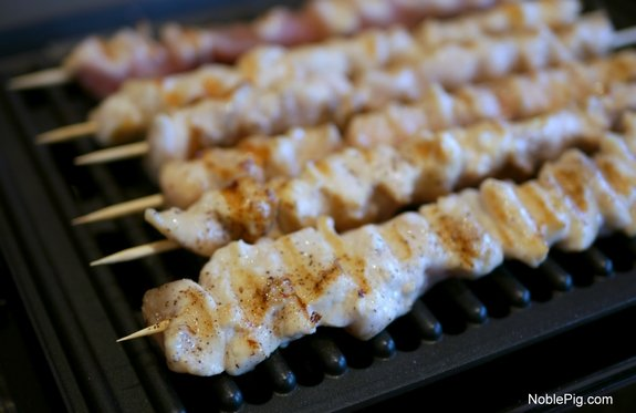 Grilled Buttery Chicken Skewers with Crazy Sauce Noble Pig Grill