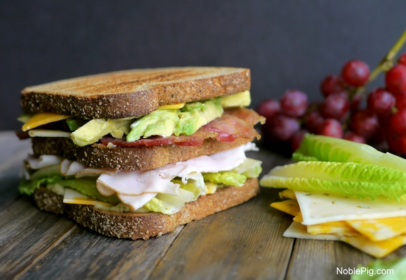 Ultimate Manly Picnic Sandwich with Sargento Cheese Noble Pig