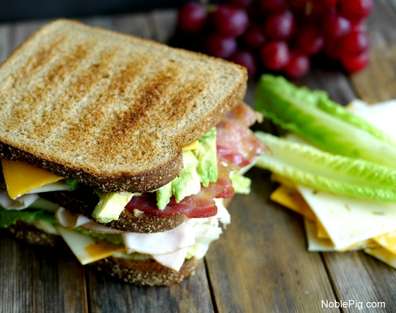 Ultimate Manly Picnic Sandwich with Sargento Cheese and Noble Pig