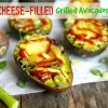 Cheese-Filled Grilled Avocados
