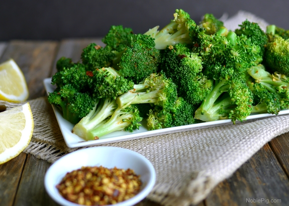 5 Minute Spicy Lemon Broccoli from Noble Pig
