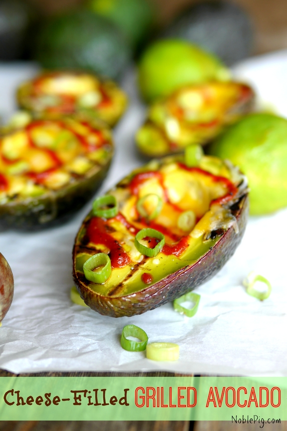 Cheese Filled Grilled Avocados from Noble Pig a perfect appetizer