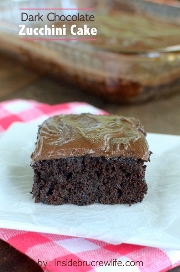Dark Chocolate Zucchini Cake title