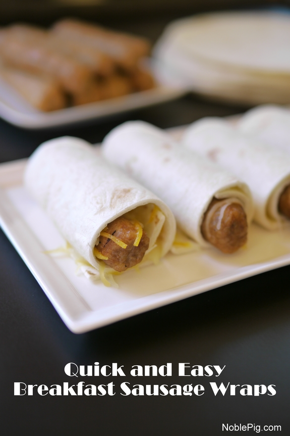 Quick and Easy Breakfast Sausage Wraps from Noble Pig