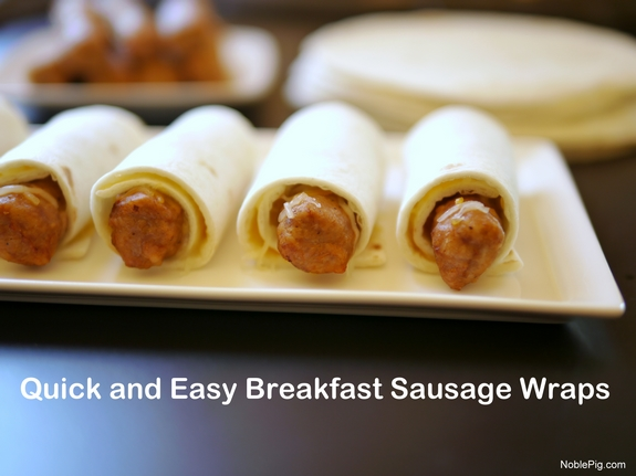 Quick and Easy Sausage and Tortilla Wraps from Noble Pig