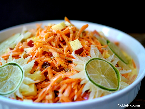 Tangy Sweet Carrot Salad from Noble Pig 1