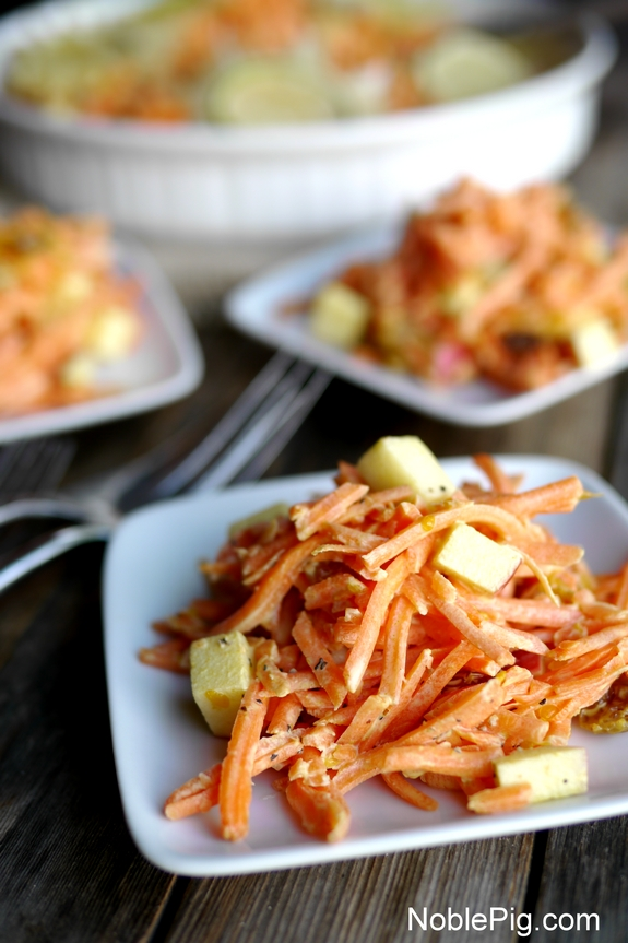 Tangy Sweet Carrot Salad from Noble Pig 3