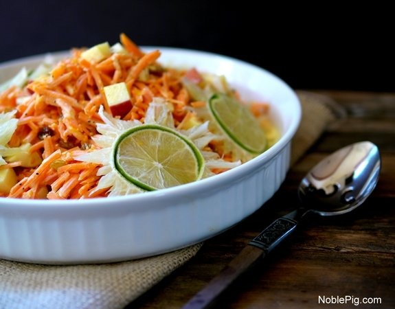 Tangy Sweet Carrot Salad from Noble Pig