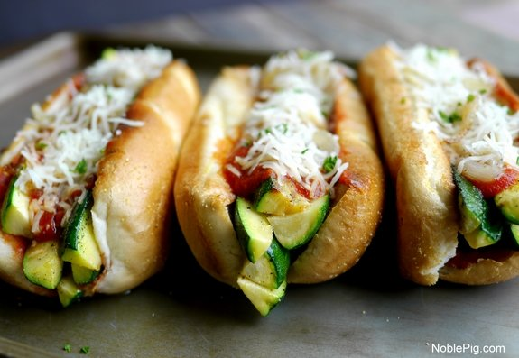 Zucchini Marinara Dogs Noble Pig