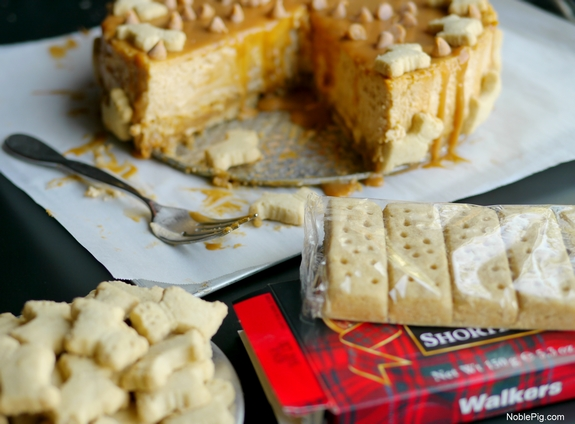 Butterscotch Overload Cheesecake with Shortbread Crust Noble Pig 4