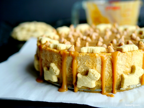 Butterscotch Overload Cheesecake with Shortbread Crust Noble Pig