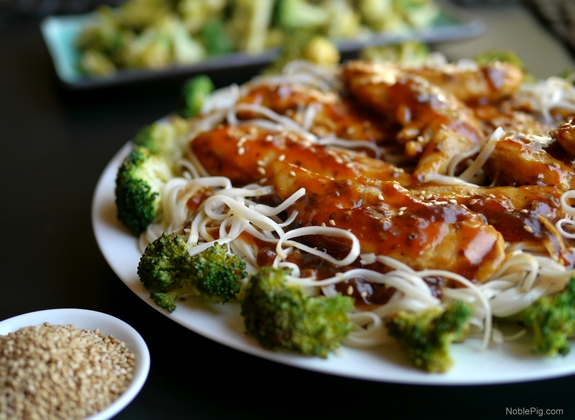 Chicken with Toasted Sesame Skillet Sauce 6