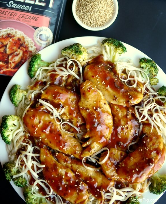 Chicken with Toasted Sesame Skillet Sauce 8