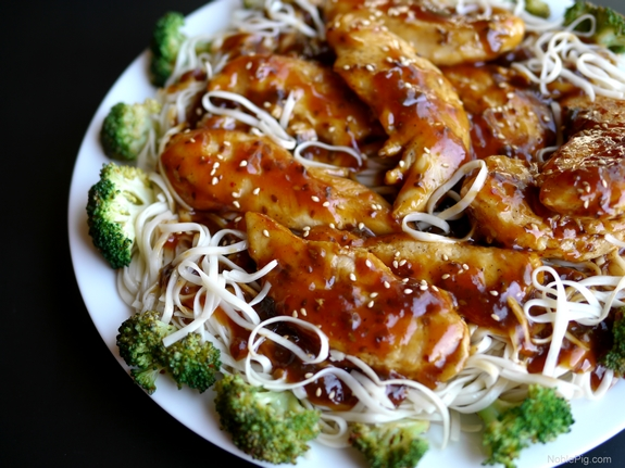 Chicken with Toasted Sesame Skillet Sauce 9