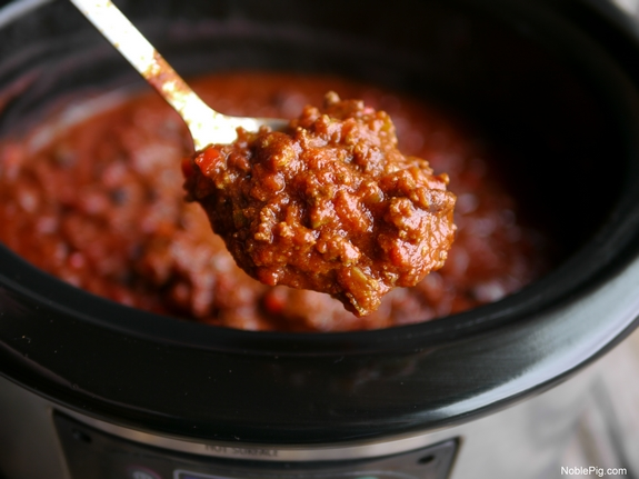 Slow Cooker Red Chili from Noble Pig
