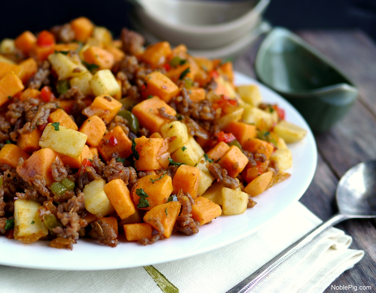Sausage and Sweet Potato Hash + Video | Noble Pig