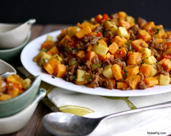 Sausage and Sweet Potato Hash from Noble Pig Food Blog 1