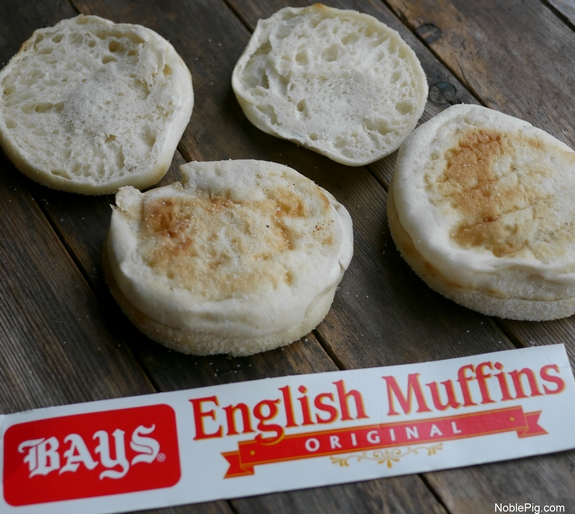 The Best Dill Pickle Sandwich English muffins