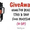 (Giveaway) Hamilton Beach Stack & Snap Food Processor