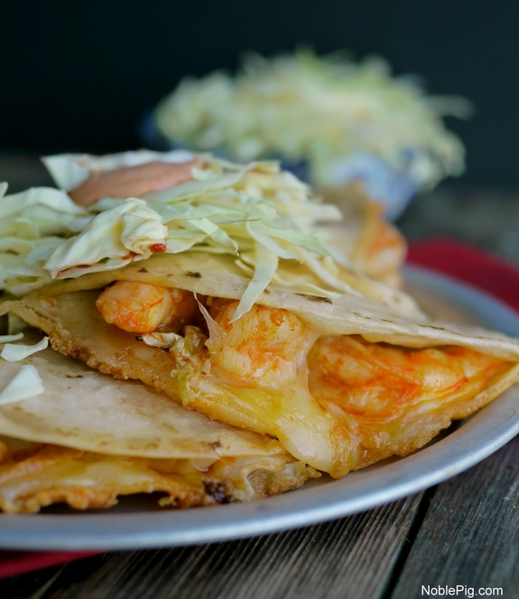 Fiery Shrimp Quesadillas Noble Pig