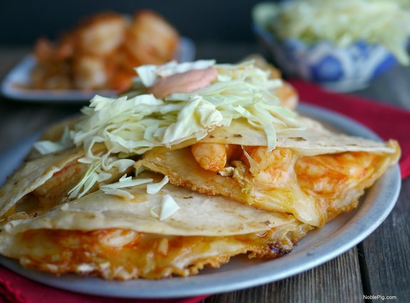 Fiery Shrimp Quesadillas