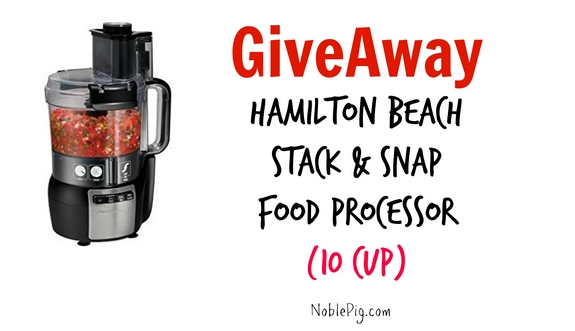 Hamilton Beach Food Processor Giveaway Graphic